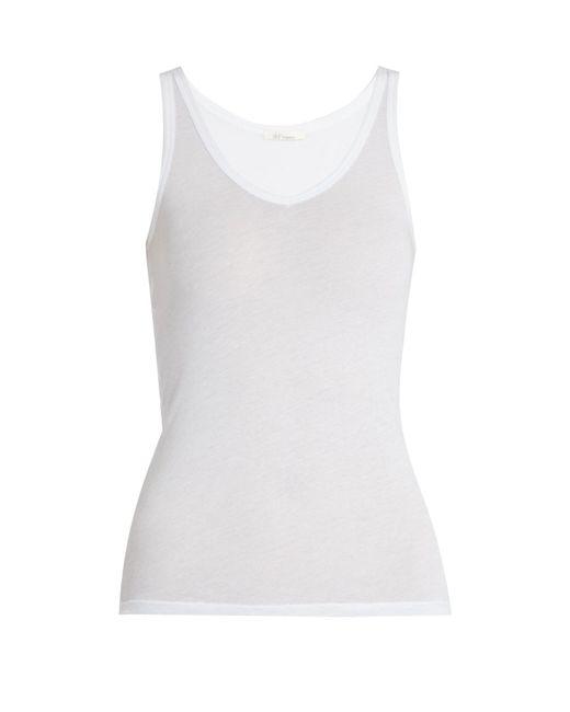 Skin - White Scoop Neck Cotton Pyjama Tank Top - Lyst