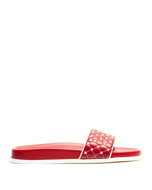 Valentino - Multicolor Free Rockstud Leather Slides - Lyst