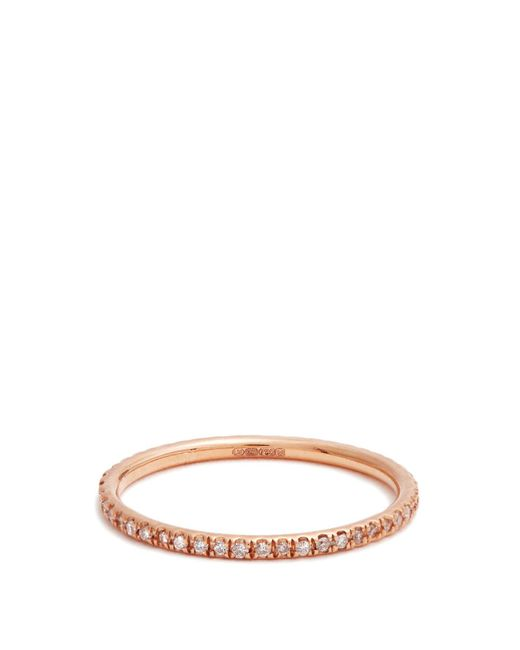 Ileana Makri - Multicolor Diamond & Pink-gold Ring - Lyst