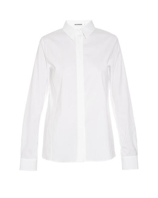 Jil Sander | White Adele Stretch-cotton Shirt | Lyst