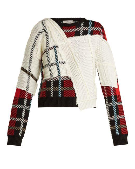 Preen By Thornton Bregazzi - Multicolor Rita Tartan Knit Sweater - Lyst