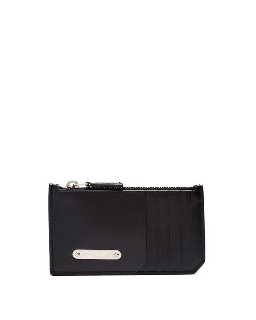 Saint Laurent - Black New Plaque Leather Cardholder for Men - Lyst