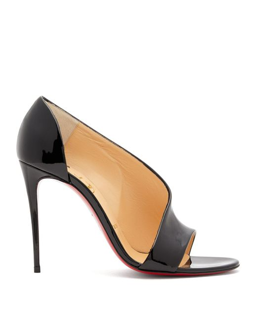 Christian Louboutin - Black Phoebe 100 Patent Leather Pumps - Lyst