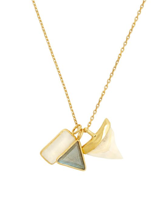 Theodora Warre | White Multi-stone And Gold-plated Necklace | Lyst