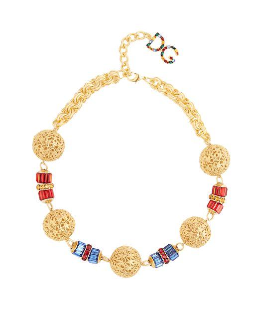 Dolce & Gabbana - Metallic Charm Embellished Necklace - Lyst