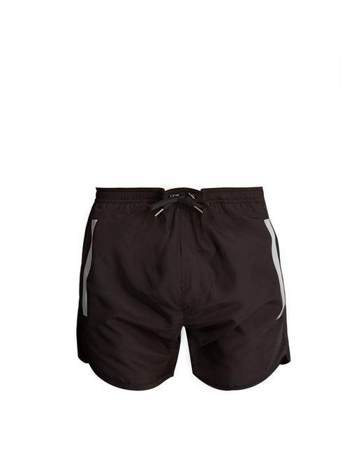Neil Barrett | Black Tape-print Swim Shorts for Men | Lyst