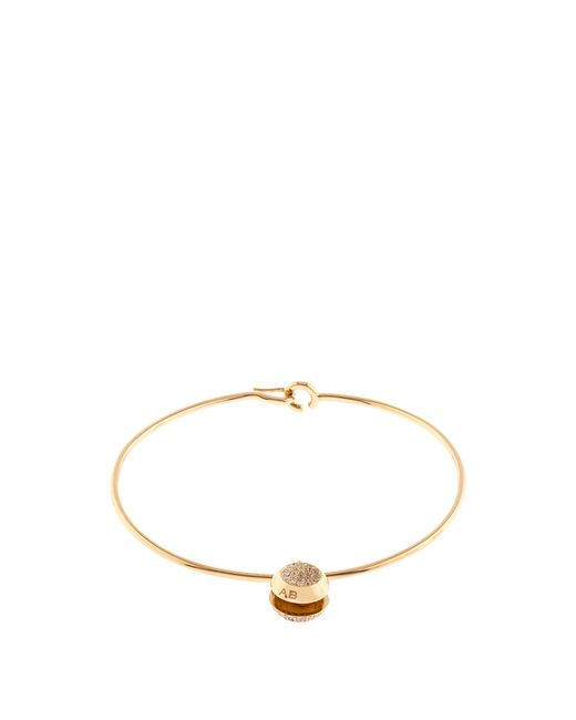 Aurelie Bidermann - Metallic Diamond & Yellow-gold Bracelet - Lyst