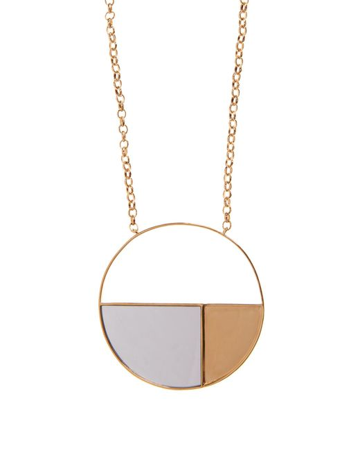 Aurelie Bidermann | Metallic Bianca Mirrored Yellow Gold-plated Long Necklace | Lyst