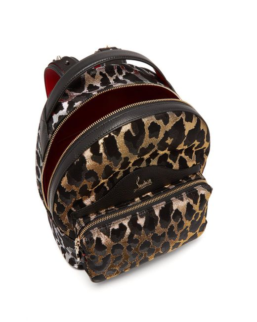 dfd4f712139 Christian Louboutin Backloubi Small Leopard Brocade Backpack - Lyst