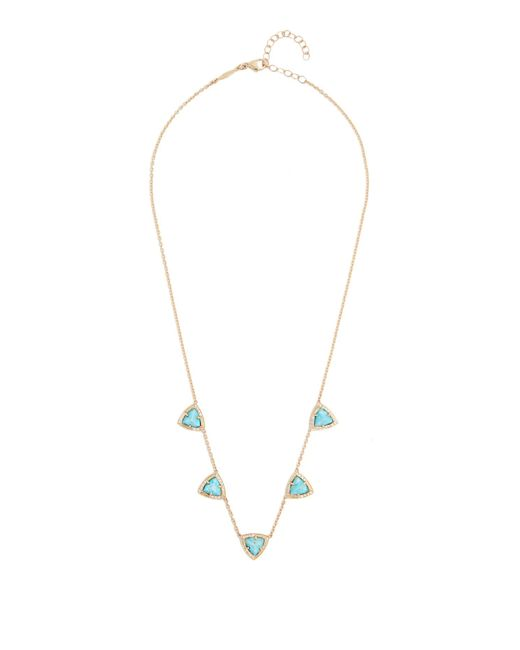 Jacquie Aiche | Blue Diamond, Turquoise & Yellow-gold Necklace | Lyst