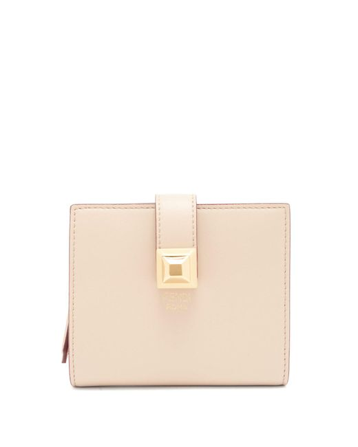Fendi - Multicolor Stud-embellished Expandable Leather Wallet - Lyst