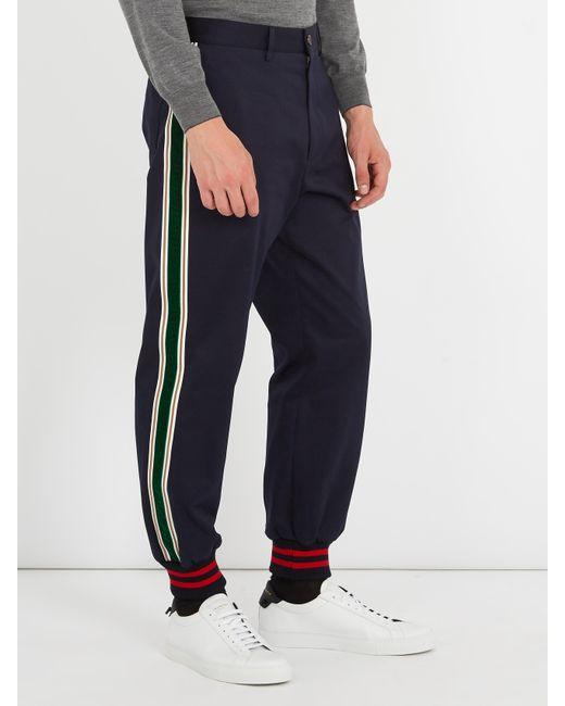 Striped cotton trousers Gucci F2Vk0no0W