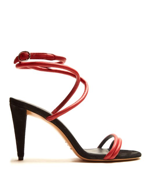 Isabel Marant - Multicolor Abigua Tie Ankle Leather Sandals - Lyst