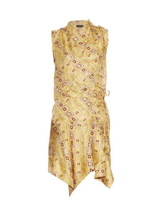 Isabel Marant | Multicolor Tabby Printed Silk Dress | Lyst
