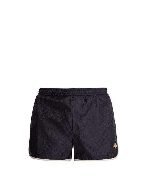 Gucci   Blue Gg-jacquard Swim Shorts for Men   Lyst