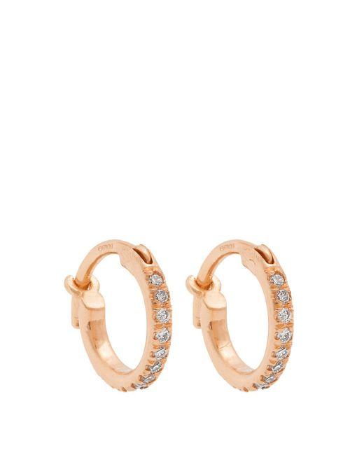 Ileana Makri - Multicolor Diamond & Rose Gold Earrings - Lyst