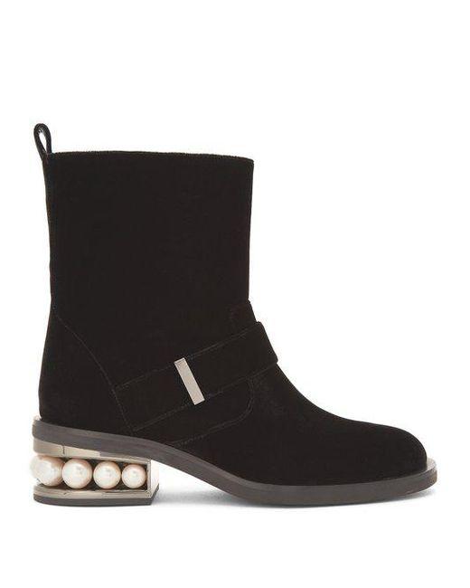 Nicholas Kirkwood Velvet Ankle Boots JYJAzx