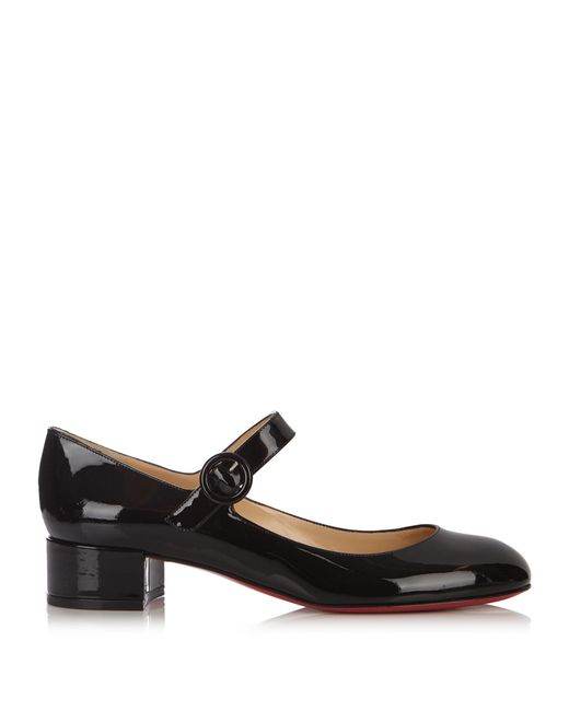 Christian Louboutin | Black Dolly Birdy 30mm Patent-leather Pumps | Lyst