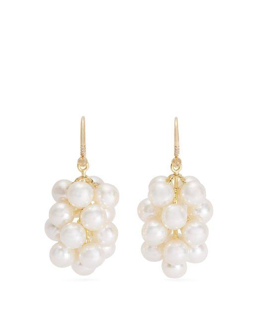 Irene Neuwirth - Metallic Akoya Pearl And Yellow Gold Earrings - Lyst