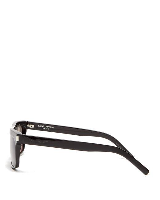 6e5dde7a57b9 ... Saint Laurent - Black Square Frame Sunglasses for Men - Lyst ...