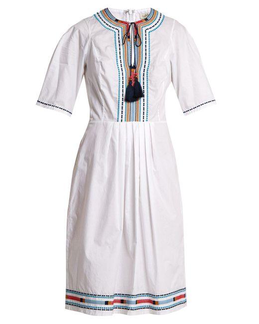 Talitha - White Anita Embroidered Cotton Dress - Lyst