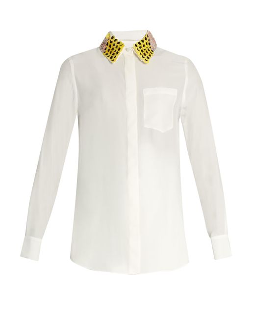 Altuzarra | Natural Chica Detachable-collar Long-sleeved Shirt | Lyst
