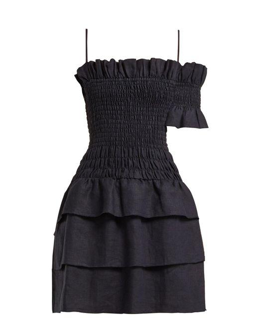 dd720aabf6 SIR - Blue Mariele Smocked Mini Dress - Lyst ...