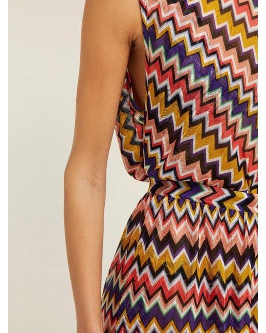 d3fd540367 ... Missoni - Multicolor Multicoloured Zigzag Playsuit - Lyst