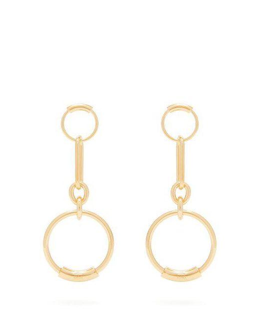 Chloé - Metallic Drop Hoop Earrings - Lyst