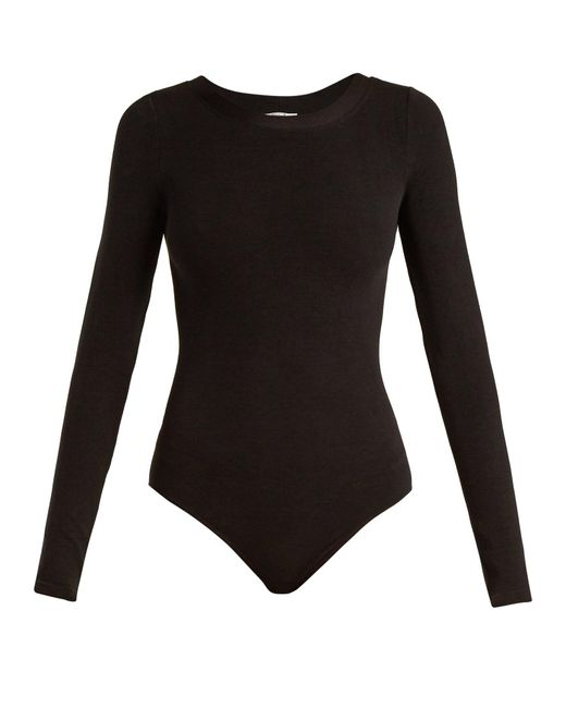 Wolford - Black Berlin Round-neck Body - Lyst