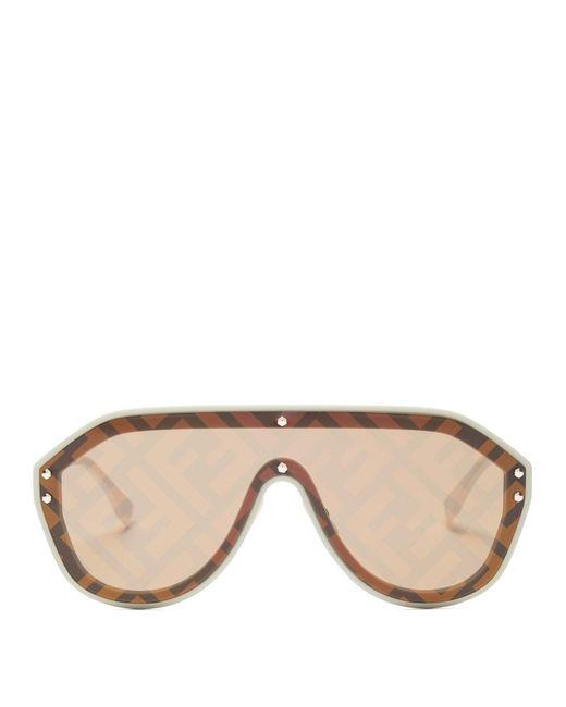 Fendi Brown Ff Monogram Aviator Sunglasses