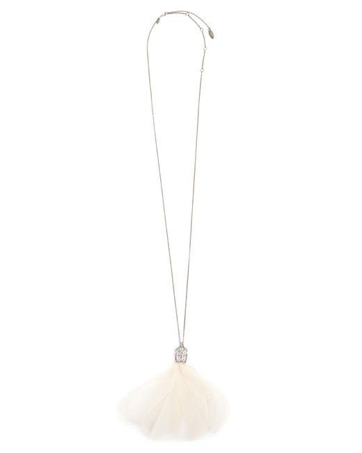 Lanvin | Pink Crystal-embellished Flower Necklace | Lyst