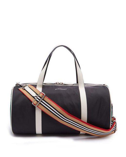 Burberry - Black Panelled Nylon Holdall for Men - Lyst ... fa269c1bdc0b1
