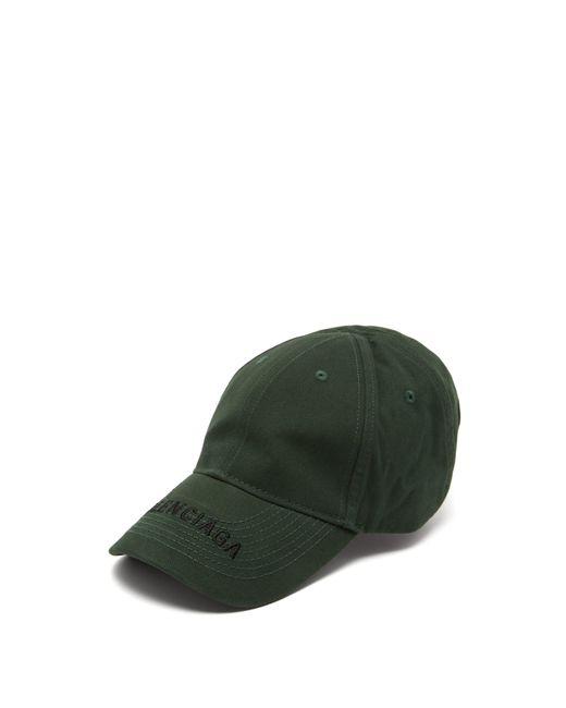 e9c42e449fd Balenciaga - Green Logo Cotton Baseball Cap for Men - Lyst ...