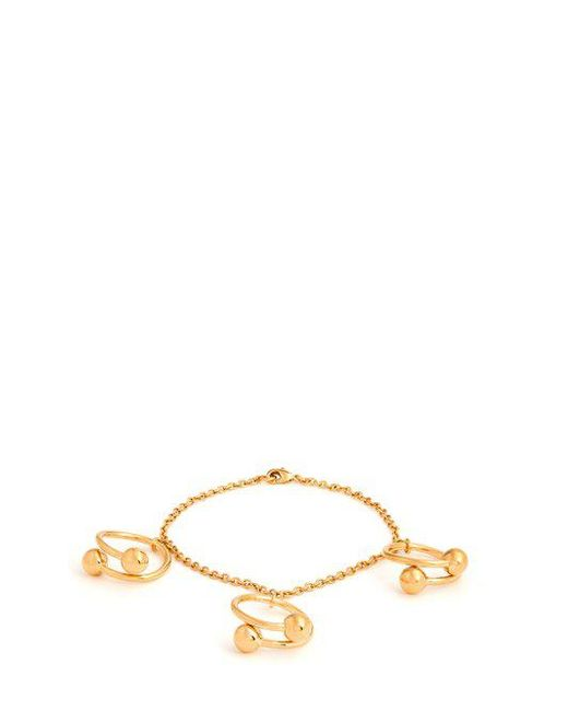 J.W.Anderson Double-sphere gold-plated bracelet 26pSor