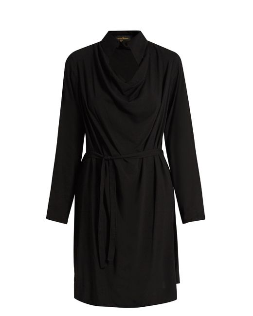 Vivienne Westwood Anglomania | Black Tondo Cowl-neck Draped Dress | Lyst