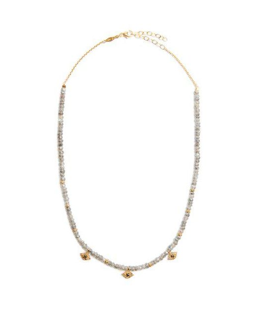 Jacquie Aiche - Gray Diamond, Labradorite & Yellow-gold Necklace - Lyst