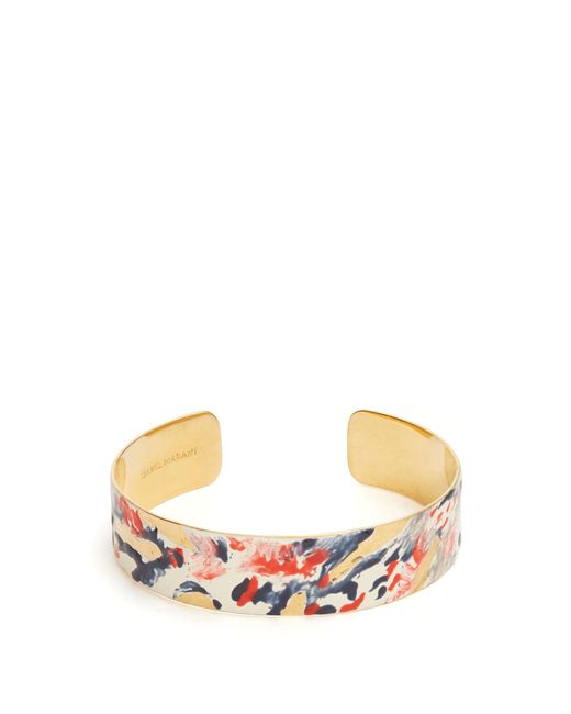 Isabel Marant | Multicolor Impressionist Resin-coated Cuff | Lyst