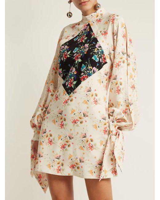 Archive floral-print crepe mini-dress Christopher Kane xDyWCWO