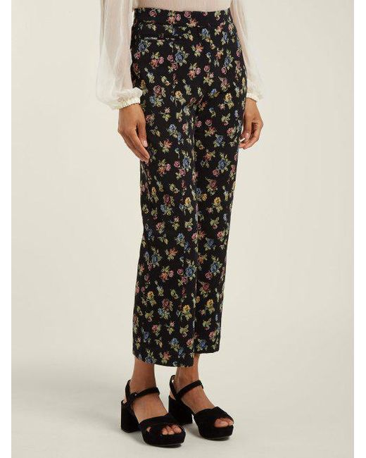 Shopping Discounts Online valary floral-jacquard cropped trousers Erdem Latest Clearance Lowest Price Buy Cheap Official Site 8dHrJvohN