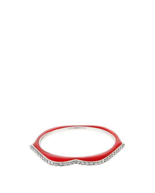 Raphaele Canot - Metallic Omg! Diamond, Enamel & White-gold Ring - Lyst
