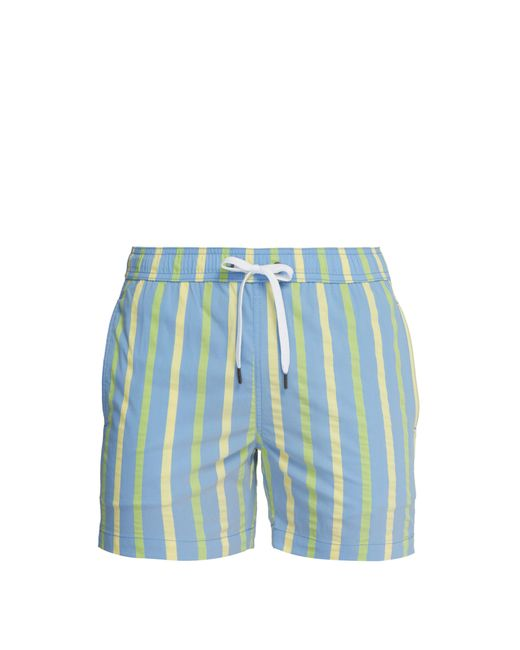aef1f82dca487 Onia Charles 5 Striped Swim Trunks in Blue for Men - Save 8% - Lyst