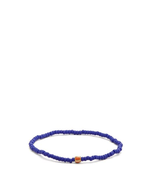 Luis Morais - Blue Bead, Enamel And Yellow Gold Bracelet for Men - Lyst