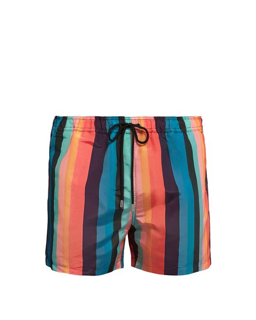 Paul Smith - Blue Short de bain rayé for Men - Lyst