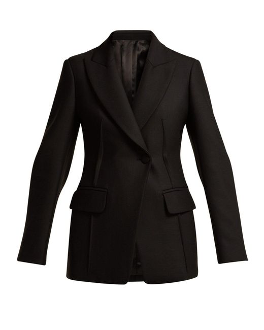 Joseph - Black Sampson Single-breasted Twill Blazer - Lyst