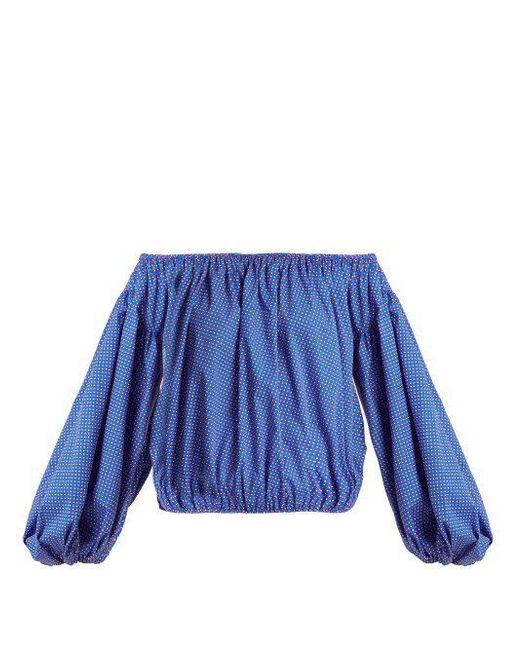 Andros floral-print cotton top Caroline Constas Discount Low Cost Sale Low Price Rl93O