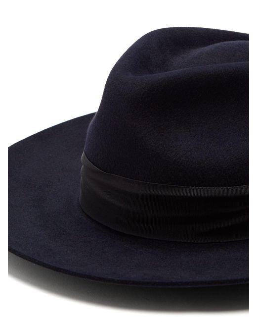 8cc6af18c7f Portobello Felt Fedora Hat - Lyst Hillier Bartley - Blue X Lock   Co. Portobello  Felt Fedora Hat ...