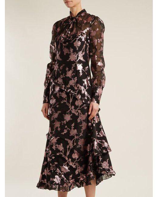 Faylin floral fil-coupe dress Erdem g0xdMQzYY3