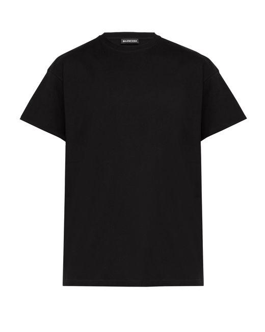 T-shirt à imprimé Gender Neutral Balenciaga pour homme en coloris Black