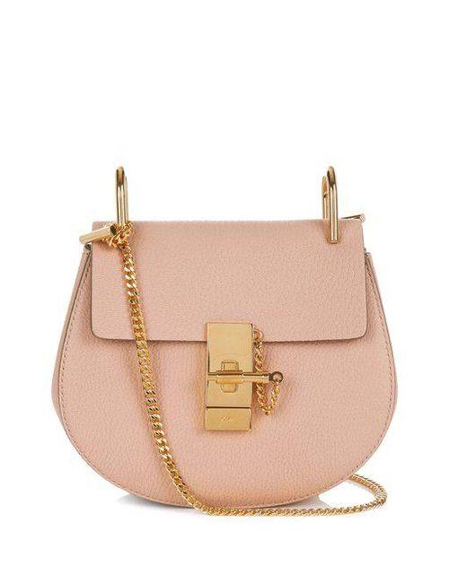 Chloé - Pink Drew Mini Leather Cross-body Bag - Lyst
